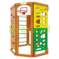 Игровая детская площадка - IGRAGRAD WORKOUT, скалодром, лестница, баскетбольное кольцо, фото 1