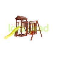 Уличный детский игровой комплекс - IGRAGRAD CLASSIC ПАНДА ФАНИ GRIDE С WORKOUT, фото 1