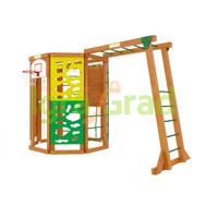 Детский уличный игровой городок - IGRAGRAD WORKOUT С РУКОХОДОМ, баскетбольное кольцо, скалодром, шведская стенка, фото 1
