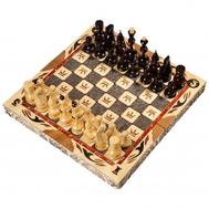 Шахматы резные ручной работы С Гербом большие 60,5х30,5х10 см, фото 1