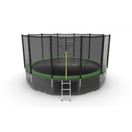 Батут EVO JUMP EXTERNAL 16 FT GREEN + LOWER NET, фото 1