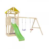 Игровая детская площадка - IGRAGRAD ПАНДА ФАНИ BABY, горка, качели, канат, фото 1