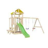 Уличный детский городок - IGRAGRAD ПАНДА ФАНИ BABY со столиком и рукоходом, 2 качели, фото 1