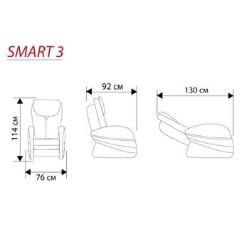 Массажное кресло CASADA SMART 3S + OTTOMAN, фото 8